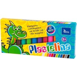 Plastelina Tetis 12 kolorów