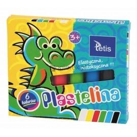Plastelina TETIS 6 kolorów