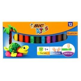 Plastelina BIC 12 kolorów