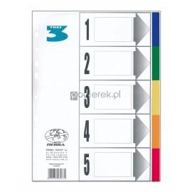 Przekładka A5 laminowana 5 kolorów Tres