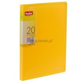 Teczka ofertowa A5 20 koszulek żółta PATIO