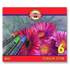 Pastele suche, Toison D'or, 6 kolorów