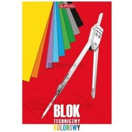 Blok techniczny A3, 10 kolorowych kartek Herlitz