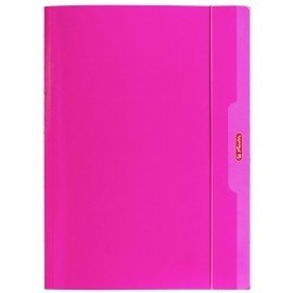 Teczka rysunkowa z gumką Color Blocking A4 HERLITZ różowa