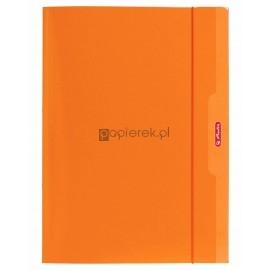 Teczka rysunkowa z gumką Color Blocking A4 HERLITZ pomarańcz