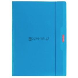 Teczka rysunkowa z gumką Color Blocking A4 HERLITZ niebieska