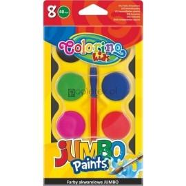 Farby akwarelowe 8 kolorów Jumbo Colorino