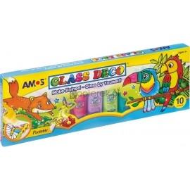 Farby witrażowe Glass Deco 10 kolorów AMOS