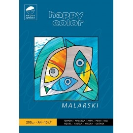 Blok malarski A4/10K 200g Happy Color