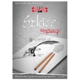 Blok Inspiracje Szkice A4/20 arkuszy 110g