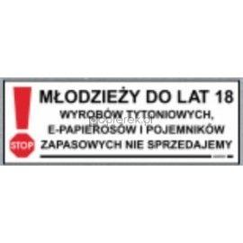 MŁODZIEŻY DO LAT 18 WYROBÓW TYTONIOWYCH LC-27E
