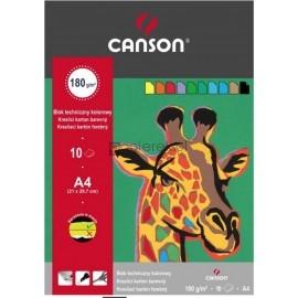 Blok techniczny kolorowy A4 CANSON 180g