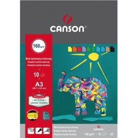 Blok techniczny kolorowy CANSON A3