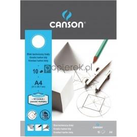 Blok techniczny A4/10 biały CANSON 180g