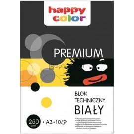 Blok techniczny Happy Color Premium biały A3 250g