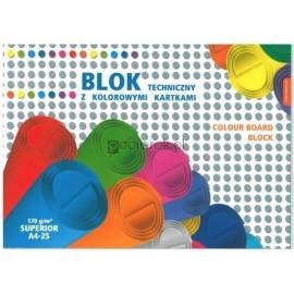 Blok techniczny Kreska A4 kolorowy 25k