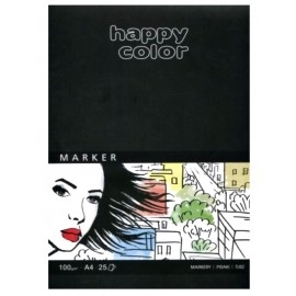 Blok do markerów A4 Happy Color, 100g 25k