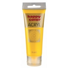 FARBA AKRYLOWA żółty, 75 ml HAPPY COLOR