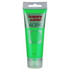 Farba akrylowa fluo, zielony, 75 ml Happy Color