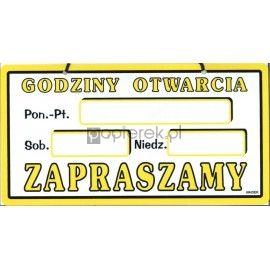 GODZINY OTWARCIA 15x30 PLEXA LD-08