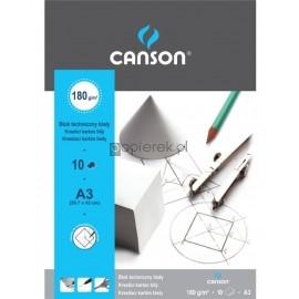 Blok techniczny biały A3 10K CANSON 180g