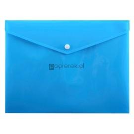 Teczka kopertowa A4 na zatrzask niebieska Penmate