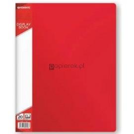 Teczka ofertowa A4 20 koszulek, czerwona Penmate