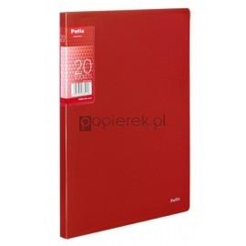 Teczka ofertowa A5 20 koszulek, czerwona Patio