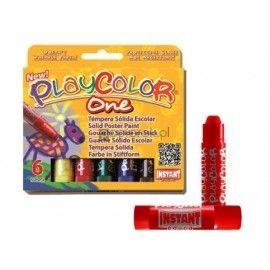 Farby tempera w sztyfcie, 6 kolorów PLAYCOLOR