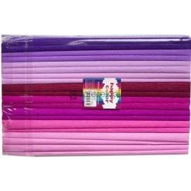 Bibuła marszczona 25x200cm MIX różowy 10 szt Happy Color