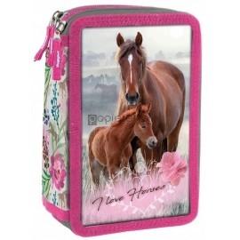 Piórnik trójkomorowy Konie 18 DERFORM