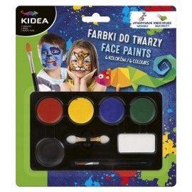 Farbki do malowania twarzy, 6 kolorów Derform