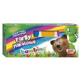 Farby plakatowe Bambino, 8 kolorów 20 ml