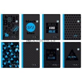 Zeszyt A5 60k, kratka, kolekcja Black Blue