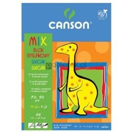 Blok rysunkowy kolorowy A4 15K CANSON