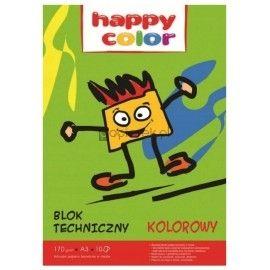 Blok techniczny kolorowy 10K 170g A3 HAPPY COLOR