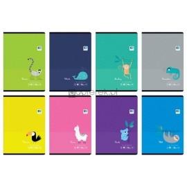 Zeszyt A5 32 kartki w linie, Black Blue Kids Tropical, mix