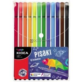 Pisaki w etui Kidea 12 kolorów