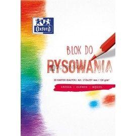 Blok rysunkowy biały A4 20 kartek OXFORD