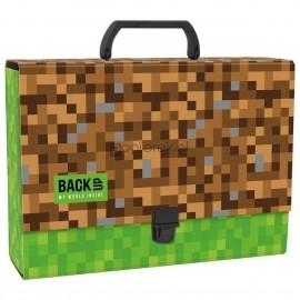 Teczka A4 z rączką twarda, motyw Minecraft BackUp