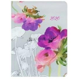 Kalendarz tygodniowy B6 2020 Akwarela kwiaty ALBI