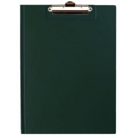 Deska z klipem zamykana A4, ciemno zielona Tres