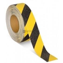 Taśma antypoślizgowa żółto-czarna ziarnista 5cm x 5m Pas