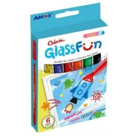 Kredki do szkła AMOS fun glass 6 kolorów