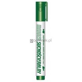 Marker suchościeralny ścięta końcówka zielony KM106-ZS Tetis