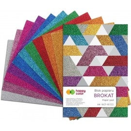 Blok a4 papieru brokat happy color
