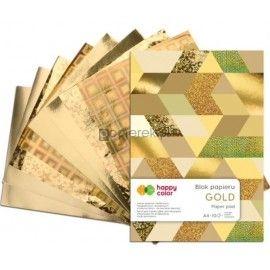 Zestaw papierów dekoracyjnych, A4, 10 arkuszy, złote