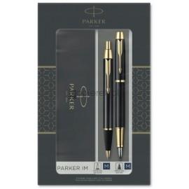 Zestaw Parker IM Czarny GT Pióro Wieczne + Długopis