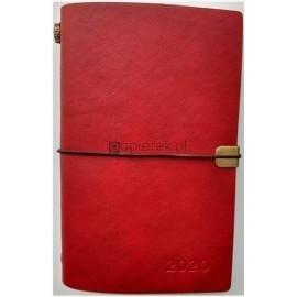 Kalendarz tygodniowy luksusowy B6 2020 czerwony ALBI