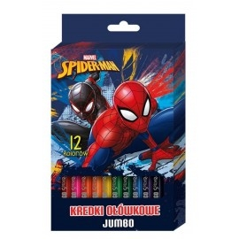 Kredki ołówkowe jumbo 12 kolorów. SpiderMan Marvel